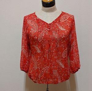 St. John's Bay Tops - St. John's bay blouse red 2x
